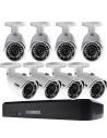 Lorex LNR110 3MP 8Ch NVR 8 x 3MP HD IP Cameras 2TB Full HD CCTV Security Kit