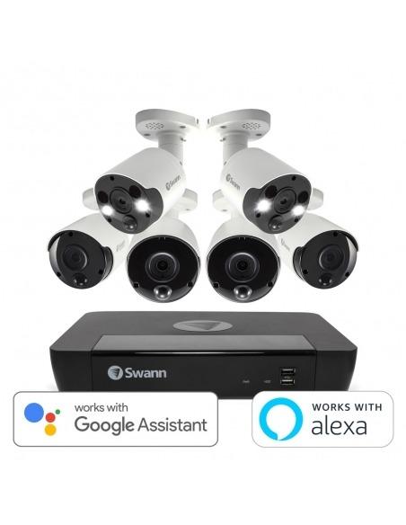 Swann 8 Ch 4K Ultra HD NVR-8580 Security System with 2TB HDD 4 x 4K Bullet & 2 x 4K Spotlight