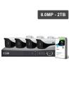 VIP Vision Pro Series 4 Camera 8.0MP IP Surveillance Kit (Fixed, 2TB)