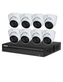 Dahua 4MP 8CH IP Bundle Kit using 8 X Motorised Eyeball Cameras- KIT-DH-4MP8MT8