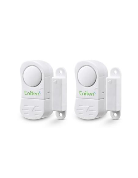 ENITEN Window Door Alarm with Chime 2Pack Battery Operated & Loud 106dB Siren