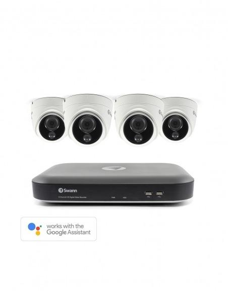 Swann 8 Channel 4K Ultra HD DVR-5580 with 2TB HDD & 4 x 4K Heat & Motion Sensing Security Cameras PRO-4KMSD