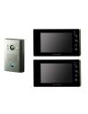 Futuro SD4B REC 2x Video Intercom BLACK Screens + 1x SURFACE Mount CZ4 Camera