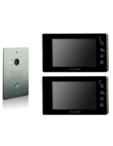 Futuro 2 x SD4B Video Intercom BLACK...