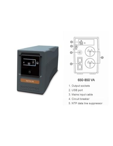Socomec NeTYS PE 650VA UPS Battery Backup