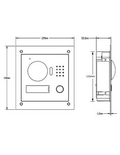 VIP INTIPRDSVW Residential Aluminium IP Intercom Door Station