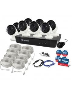 NVR8-8580 4K Capable / 2TB / 8 x NHD-885MSB 4K True Detect White Bullet Cameras w Audio