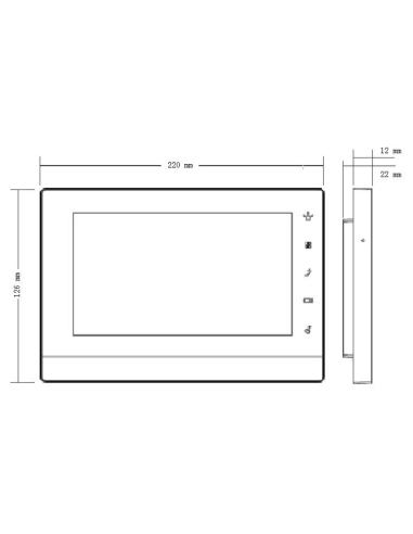 VIP Vision Apartment Series IP Intercom Monitor (White)
