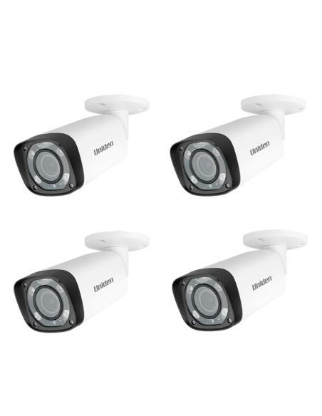 Uniden 2MP CVI 4PK GDCH10ML Motorised Lens Bullet Security Camera GCVR series