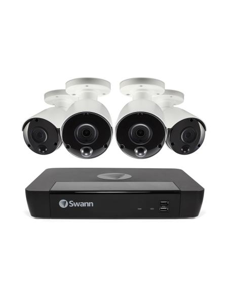 Swann 8MP SWNVK-885804 4K 2TB 4x NHD-885MSB True Detect Cams Audio NVR8-8580